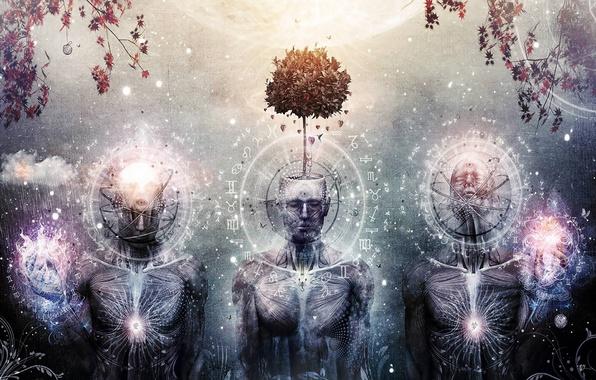 Picture tree, three, art, spirituality, cameron gray, third eye