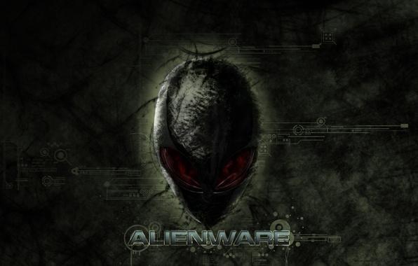 Picture logo, others, alien, the head of the alien, alienware