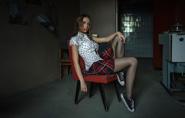 Picture skirt, blouse, legs, George Chernyadev, Kseniya Kokoreva, Kseniya