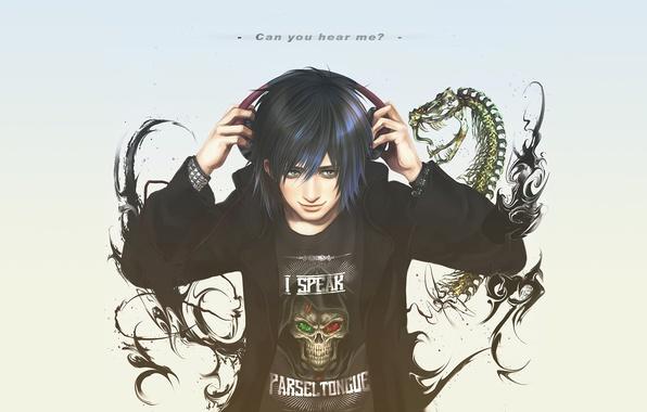 Picture text, smile, skull, snake, headphones, skeleton, guy, Harry Potter, fan art, Potter, Albus, Albus Severus …
