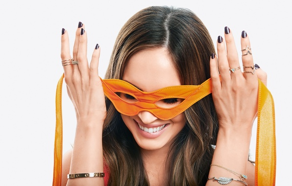 Picture Megan Fox, Megan Fox, smile, actress, mask, bracelets, celebrity, smiling