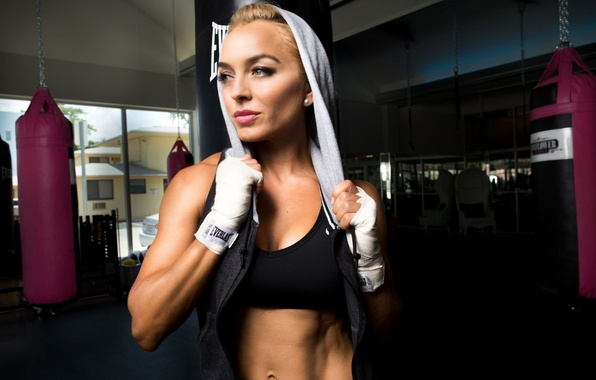 Picture fitness, blonde, transpiration, gym, workout