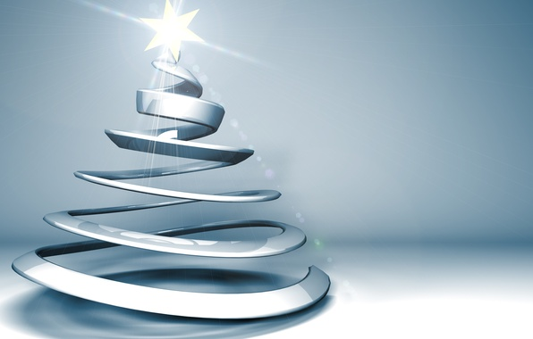 Photo wallpaper rays, holiday, graphics, star, new year, Christmas, tree, christmas, new year