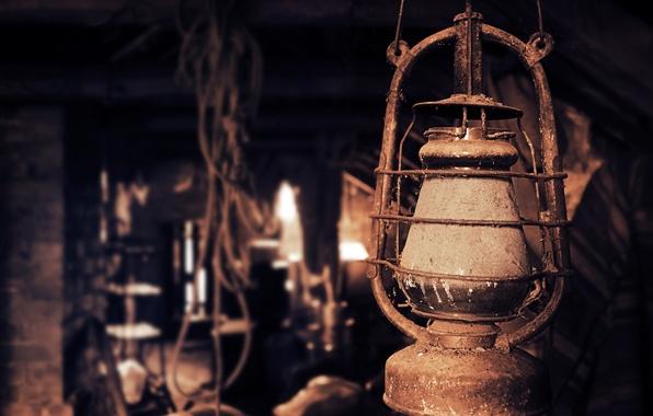 Picture old, retro, lamp, Vintage, attic, the attic., kerosene lamp, concepts lamp