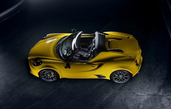 Picture Yellow, Convertible, spider, Alfa Romeo, Car, 2015