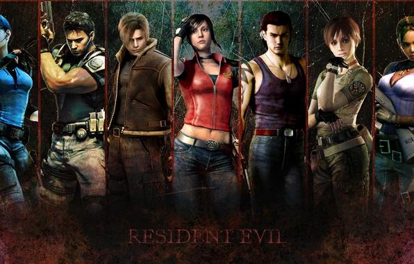 Picture Resident Evil, Biohazard, Jill Valentine, Leon Scott Kennedy, Chris Redfield, Sheva Alomar, Claire Redfield, Billy …