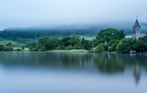 Picture fog, lake, Scotland, Scotland, Loch Lomond, Loch Lomond
