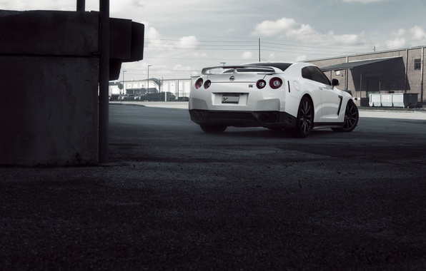 Picture machine, the sky, clouds, city, the city, GTR, Nissan, sky, cars, speed, cityscape, Nissan GTR, …