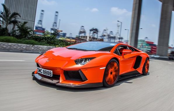 Picture road, movement, tuning, Lamborghini, Lamborghini, aventador, Aventador LP900-4 Molto Veloce