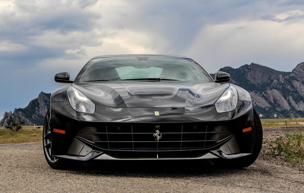 Photo Wallpaper Ferrari Black F12 Berlinetta