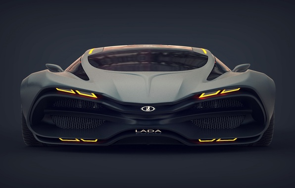 Picture Concept, Car, Lada, Lada, The front, Raven, Equal