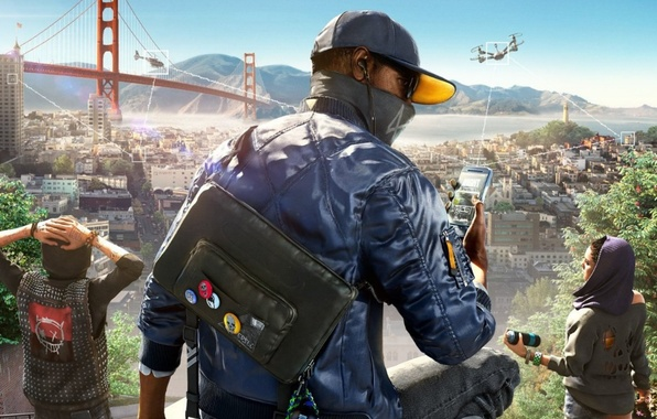 Picture Ubisoft, San Francisco, Game, Marcus, Marcus Holloway, Watch Dogs 2, DedSec
