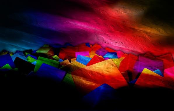 Picture light, line, color, texture, twilight, the volume, square, layer