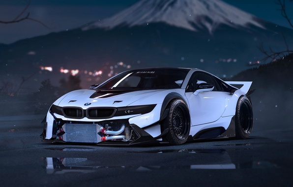 Picture BMW, Snow, White, Tuning, Future, Moutian, by Khyzyl Saleem