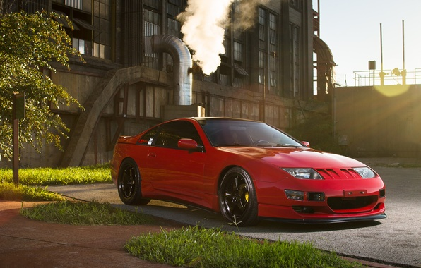 Picture car, nissan, red, 300ZX