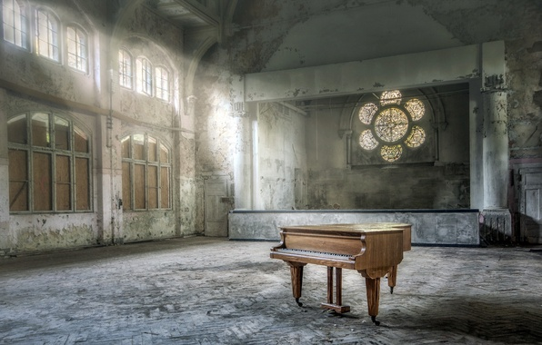 Picture music, piano, hall