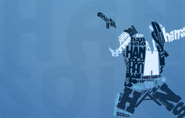 Picture letters, Star Wars, English, typography, Han Solo, Han Solo