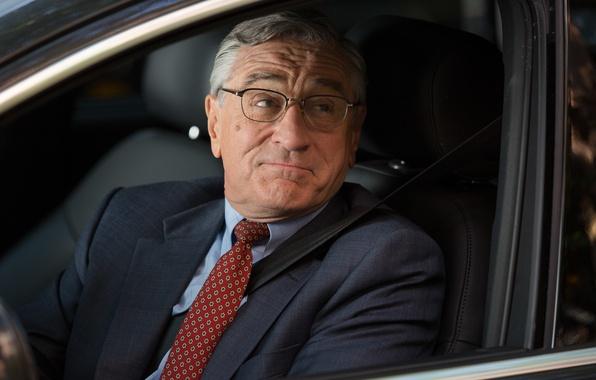 Picture auto, glasses, tie, jacket, Robert De Niro, Robert De Niro, The Intern, Intern