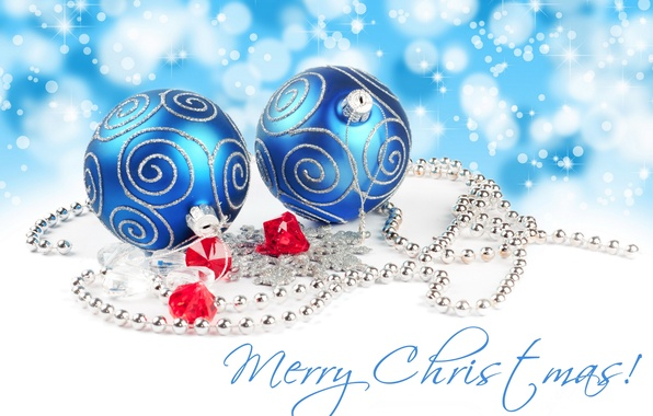 Picture holiday, toys, Christmas, Merry Christmas, blue balls