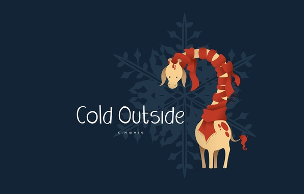 Picture scarf, giraffe, outside, cold, Designed by, Lem, Who