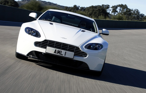 Picture auto, Aston Martin, lights, the front, Vantage S