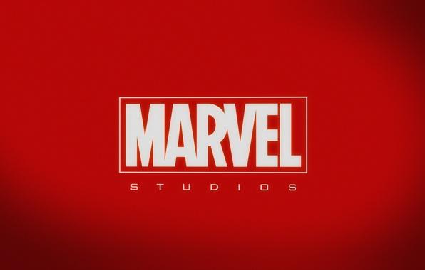 Picture red, logo, background, Marvel, MARVEL