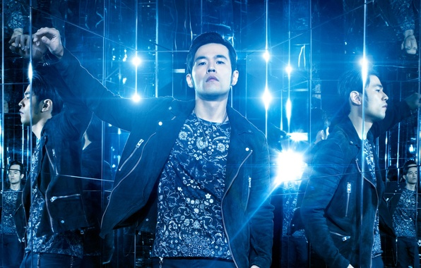 Picture reflection, blue, lamp, lighting, jacket, t-shirt, mirror, Now You See Me 2, The illusion of ...
