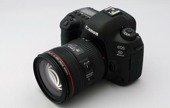 Photo wallpaper camera, lens, EOS 5D Mark IV, Canon
