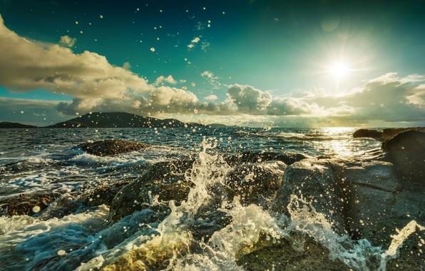Picture the ocean, shore, Nature
