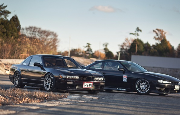Picture auto, machine, black, Silvia, Nissan, car, black, auto, Nissan, Sylvia, s14, cars, S13