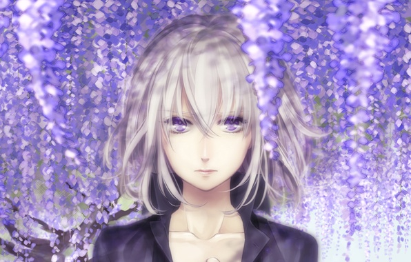Picture Girl, violet eyes, Wisteria, Wisteria