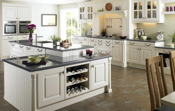 Picture white, design, style, table, room, interior, kitchen, apartment