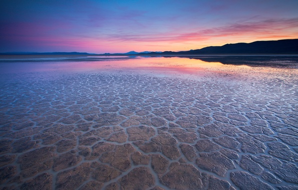 Picture water, reflection, desert, the evening, 155