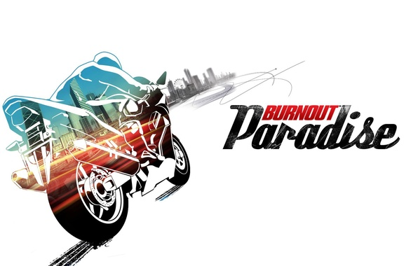 Picture the city, motorcycle, bike, burnout, paradise