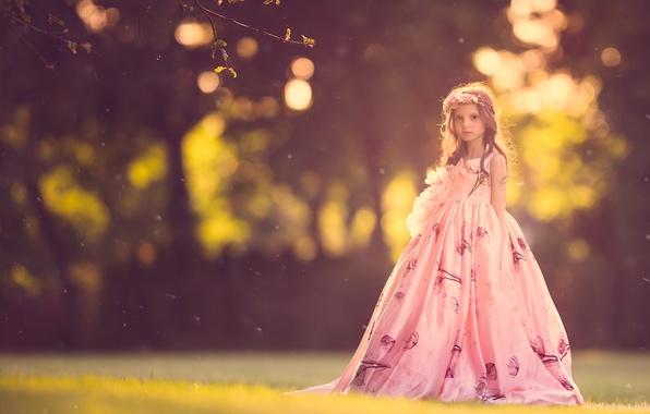 Picture nature, dress, girl, bokeh
