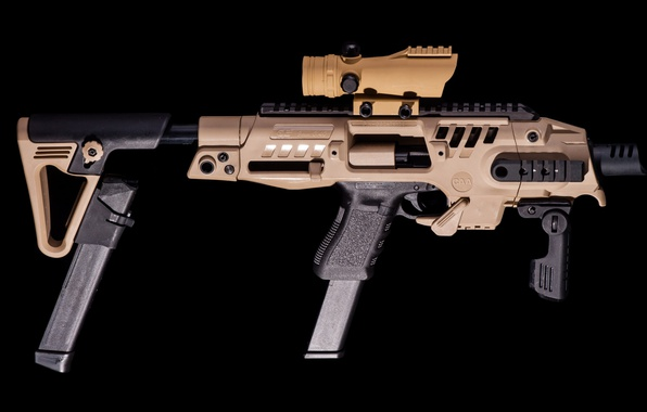 Picture wallpaper, gun, weapon, Glock, 9mm, hd, 4k, Glock SBR, Glock SBR Pistol