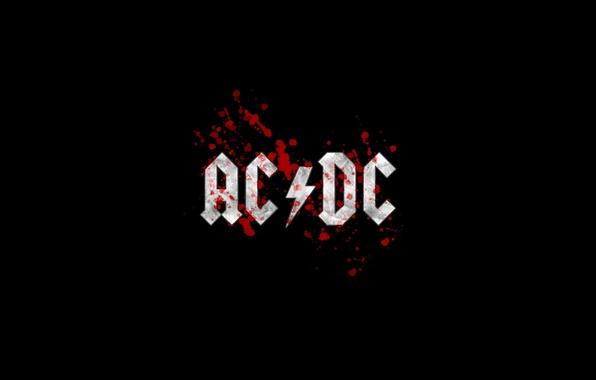 Photo wallpaper ac/dc, hard-rock, black, music, rock, logo, rock