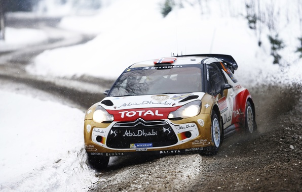 Picture Winter, Auto, Snow, Sport, Machine, Citroen, DS3, WRC, Rally, Rally, Cold, The front, Mads Ostberg, …