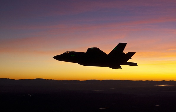 Picture fighter, silhouette, bomber, Lightning II, Lockheed Martin, F-35A