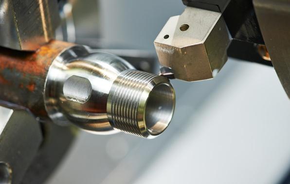 Picture metal, metallurgical, lathe