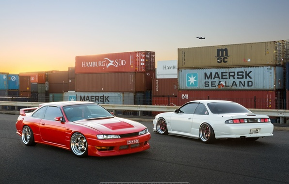 Picture nissan, turbo, red, white, japan, jdm, tuning, silvia, gtr, low, 200sx, s14, nismo, stance, datsun, ...