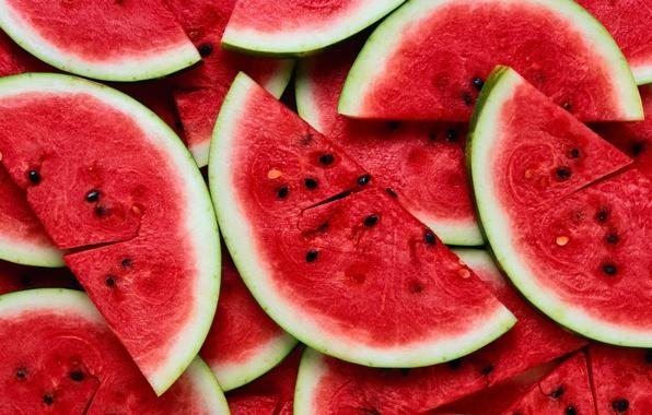 Photo wallpaper Summer, Watermelons, Food