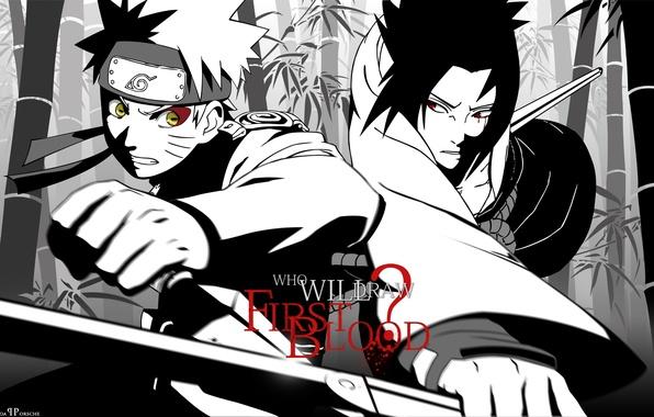 Picture labels, katana, naruto, naruto, Sasuke, kunai