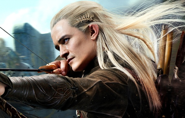 Picture forest, elf, shot, bow, arrows, quiver, Archer, Orlando Bloom, Orlando Bloom, elf, Legolas, The hobbit, …