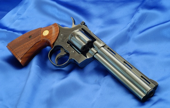 Picture Wallpaper, Background, Weapons, Python, Wallpapers, Canvas, Colt, Colt, Python, Weapons, Blue