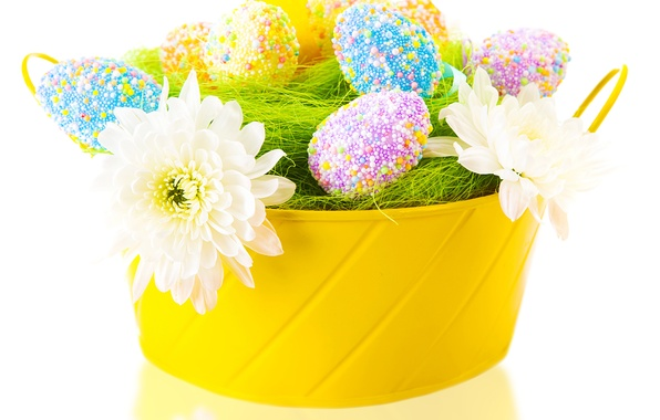 Picture flowers, eggs, Easter, Easter