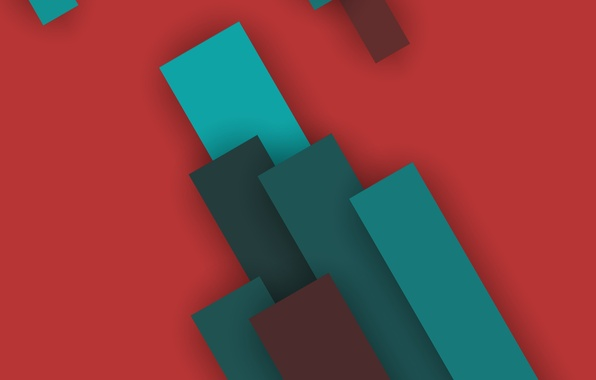 Picture Android, Red, Design, 5.0, Line, Lollipop, Stripes, Turquoise, Abstraction, Material