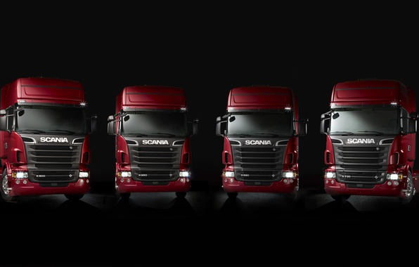 Photo wallpaper a lot, machine, Scania