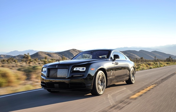 Picture road, the sky, speed, Rolls-Royce, car, chic, Rolls-Royce, Wraith, Black Badge