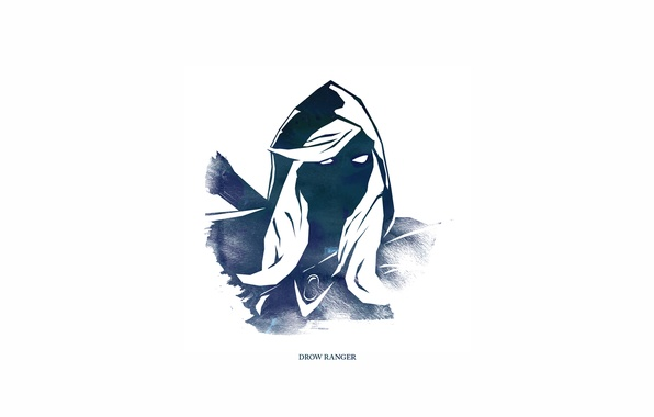 Picture Traxex, Dota 2, Minimalism, Drow Ranger, Carry, Trueshot Aura, Gust, Marksmanship, Frost Arrows